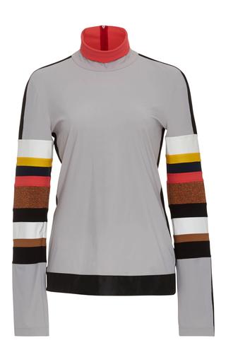 Medium no ka oi multi naka long sleeve striped arm shirt