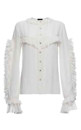 Medium magda butrym white bruges ruffled blouse  2