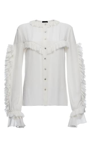 Medium magda butrym white bruges ruffled blouse  2