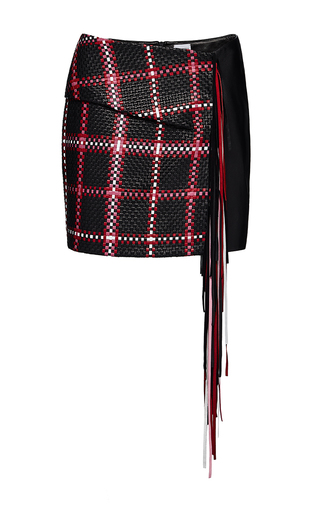 Medium magda butrym plaid sante fe checkered skirt