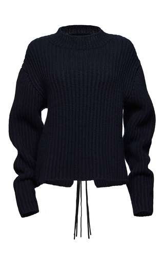 Medium magda butrym navy sudbury ribbed sweater