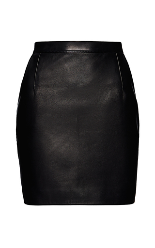 Medium magda butrym black provo leather mini skirt