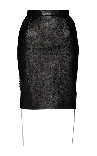 Medium magda butrym black tayson leather midi skirt