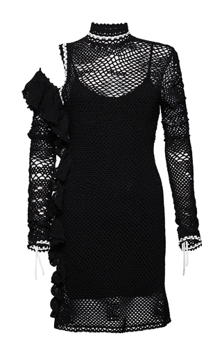 Medium magda butrym black corientes mini knitted dress