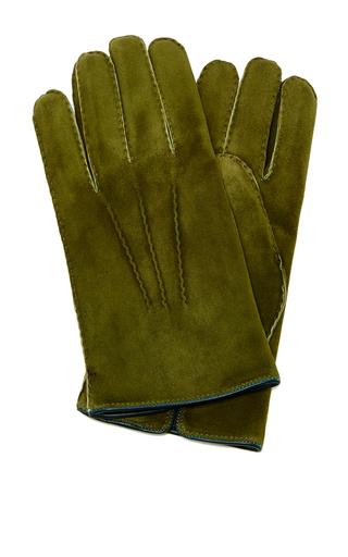 Suede Grey Glove by ARTISANAL MILANO Now Available on Moda Operandi