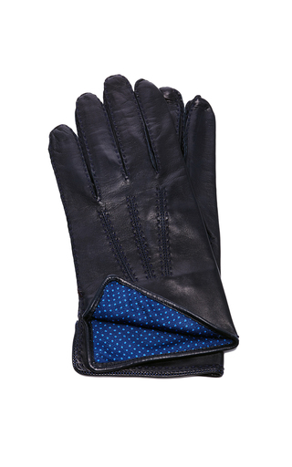 Medium artisanal milano black leather black glove
