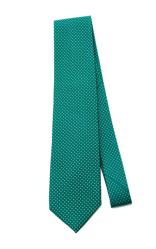 Polka Dot Silk Tie by ARTISANAL MILANO Now Available on Moda Operandi