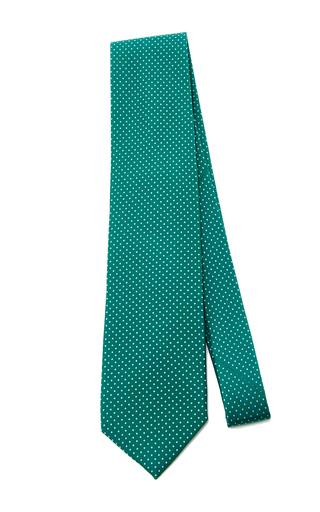 Medium artisanal milano green wool green tie