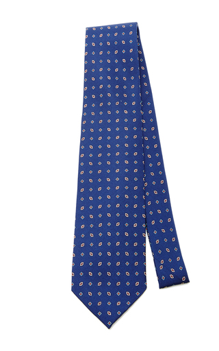 Medium artisanal milano blue wool tie