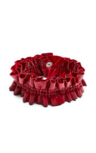 Medium magda butrym red durham leather collar