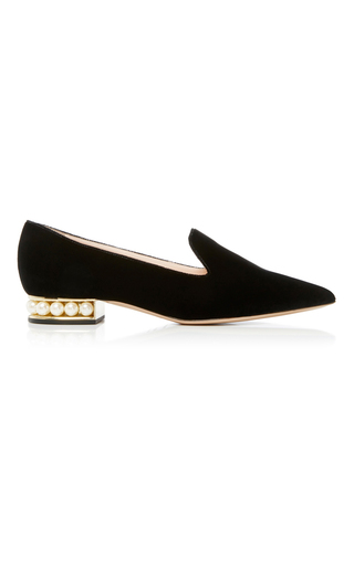Medium nicholas kirkwood black casati pearl loafer