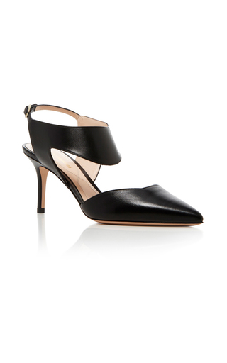 Medium nicholas kirkwood black leda leather pump
