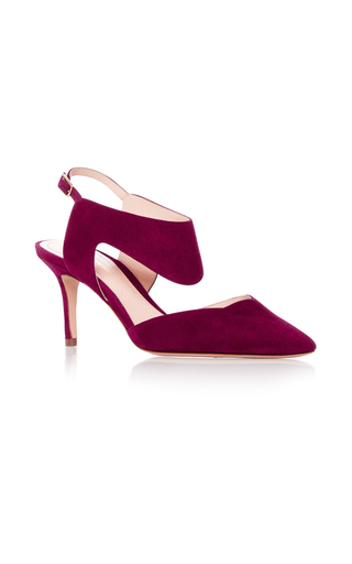 Medium nicholas kirkwood red leda suede pumps 2
