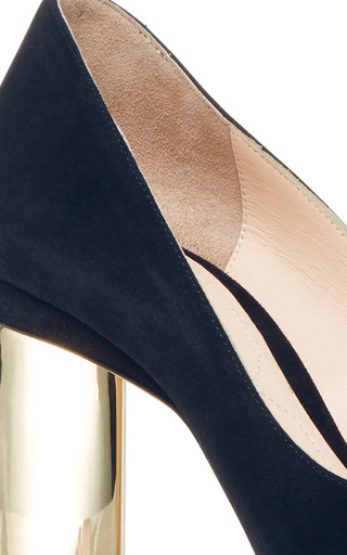 Prism Suede Pump by NICHOLAS KIRKWOOD Now Available on Moda Operandi
