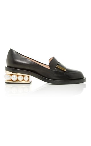 Medium nicholas kirkwood black casati pearl loafer 2