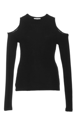 Medium getting back to square one black cutout thumbhole sweater