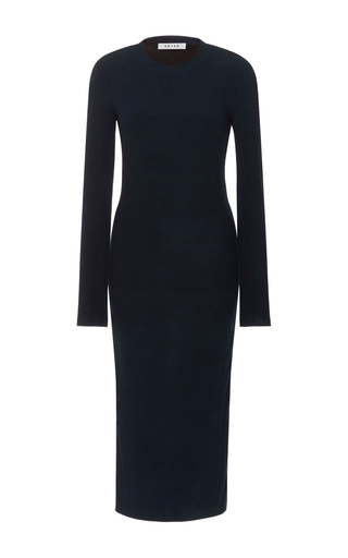 Medium getting back to square one navy long sleeve dress