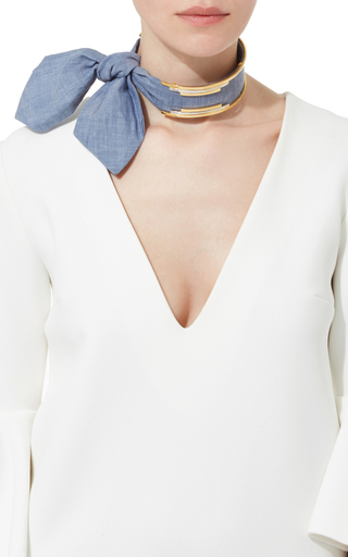 Bandita Denim Choker by MONICA SORDO Now Available on Moda Operandi