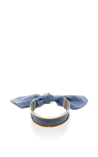 Medium monica sordo blue bandita denim choker