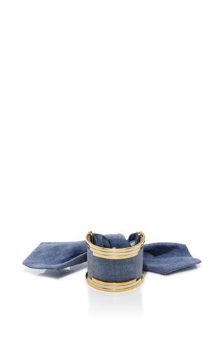 Medium monica sordo blue bandita denim cuff
