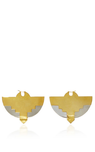 Medium monica sordo metallic tamanaco earrings