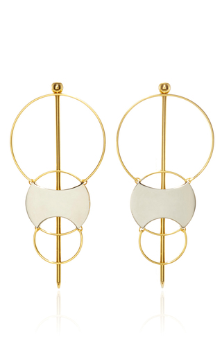Medium monica sordo metallic silencio convertible earrings