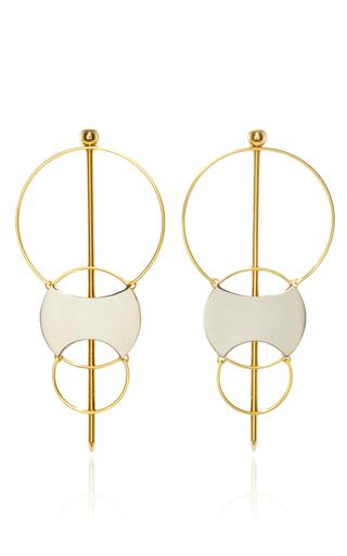 Medium monica sordo metallic silencio convertible earrings