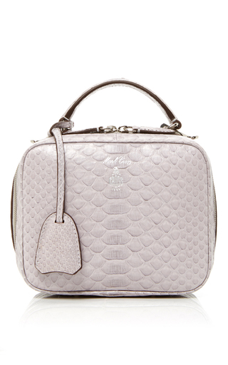 Medium mark cross light grey python baby laura