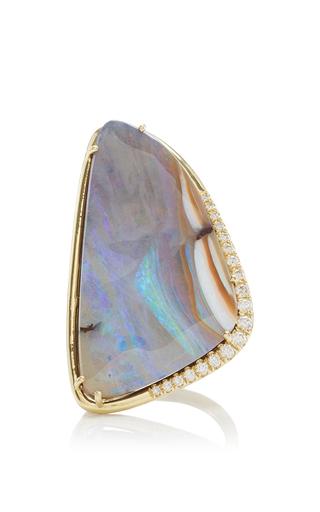 Medium lauren k multi 18k yellow gold boulder opal stella ring