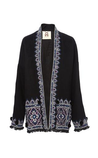 Medium figue black haveli kimono