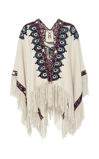 Medium figue ivory havelli poncho