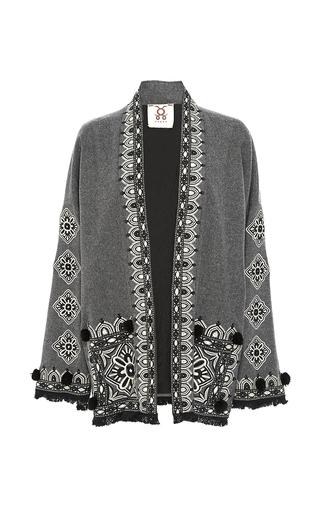 Medium figue light grey grey haveli kimono