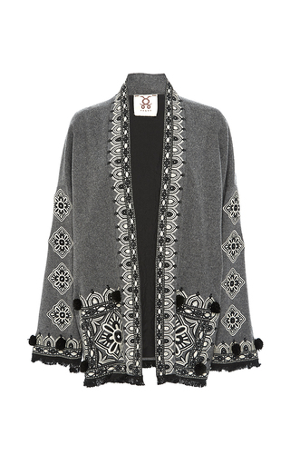 Medium figue light grey grey haveli kimono