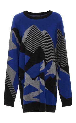Medium lndr print alps knit sweater