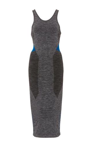Medium lndr dark grey jet circular knit dress