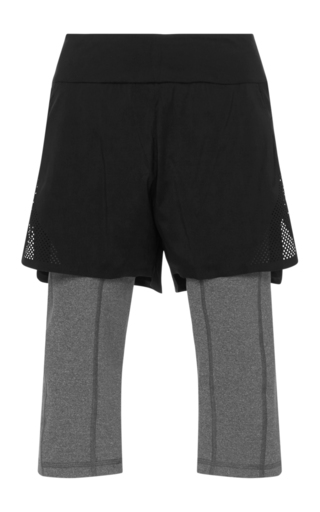 Medium lndr black scenic running shorts with leggings