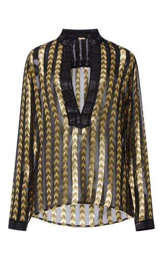 Medium dodo bar or metallic nina deep v blouse