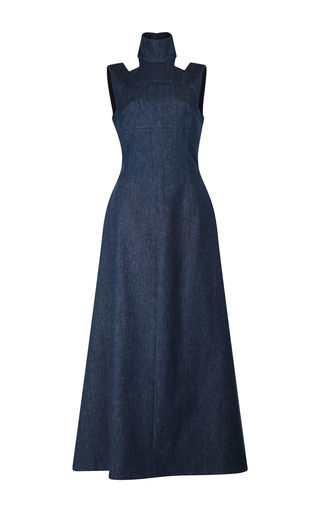 Medium emilia wickstead blue mary cut out gown 2