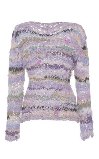 17fff7ab512 Natasha ZinkoHand Knit Long Sleeve Pullover