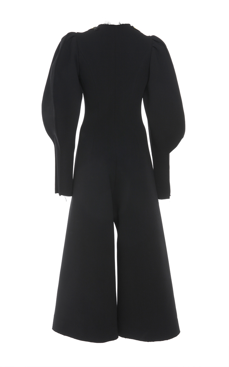 d56eba92e2c Natasha ZinkoDouble Face Wool Puff Sleeve Jumpsuit. CLOSE. Loading. Loading