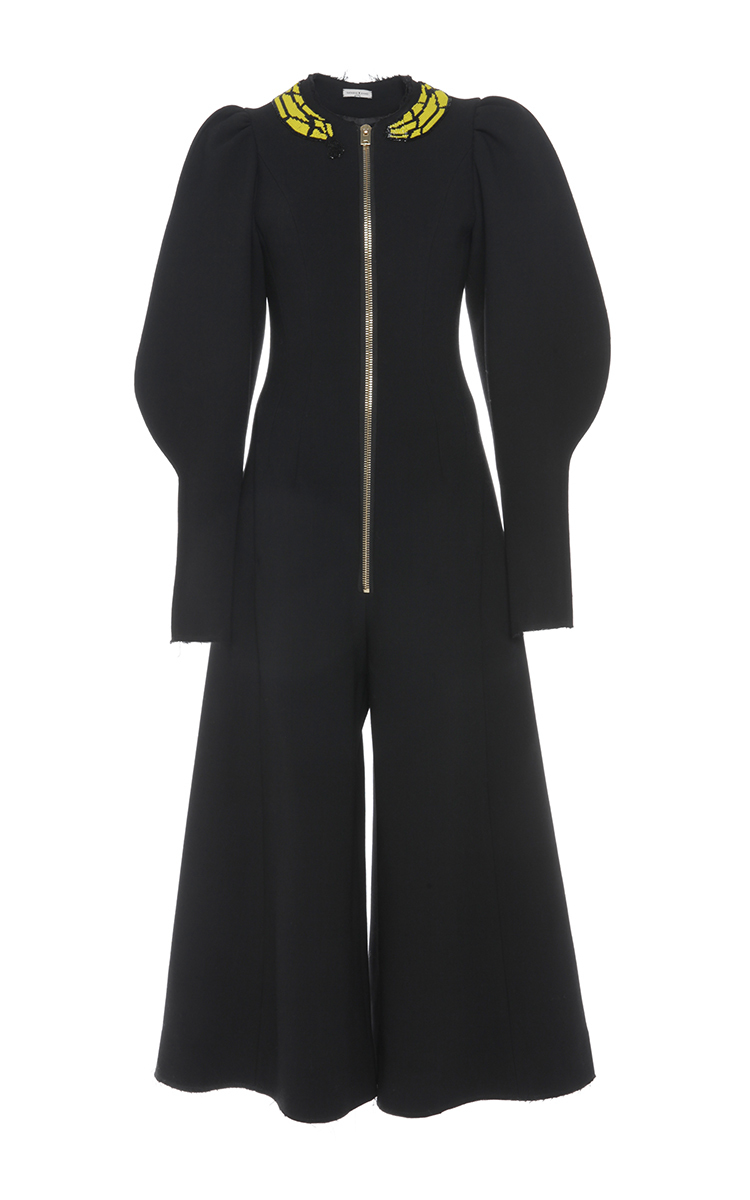 a43ac102462 Double Face Wool Puff Sleeve Jumpsuit by Natasha Zinko