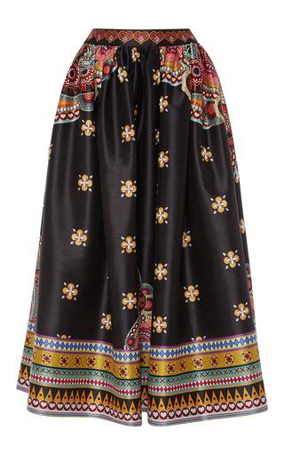 Medium manish arora black printed hand embroidered long skirt