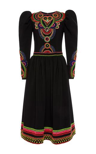 Medium manish arora black hand embroidered long dress