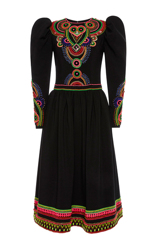 Medium manish arora black hand embroidered long dress
