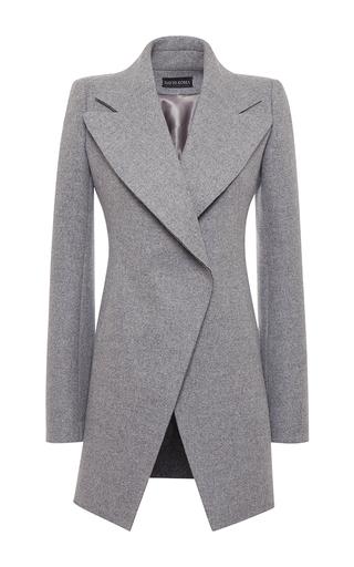 Medium david koma dark grey a line wool coat