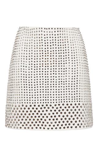 Medium david koma white stud embellished mini skirt
