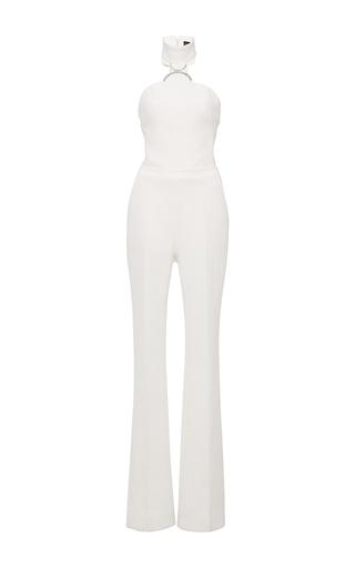 Medium david koma white sleeveless halter jumpsuit