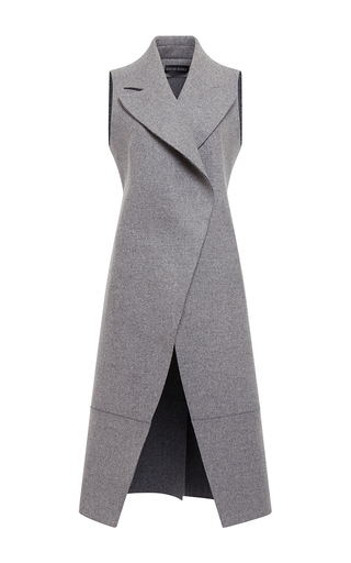 Medium david koma dark grey wool vest