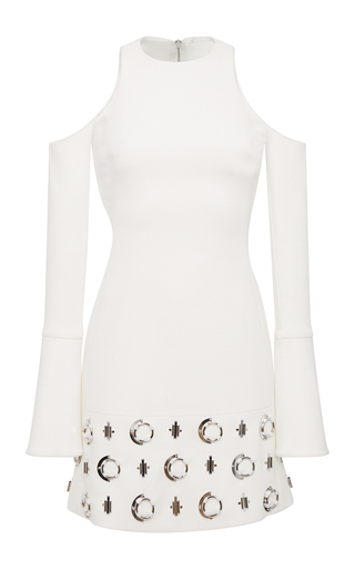 Medium david koma white metal circle dress
