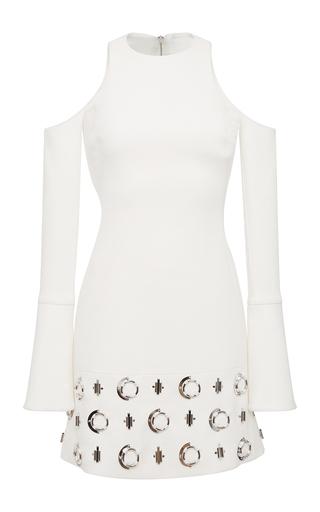 Medium david koma white metal circle dress